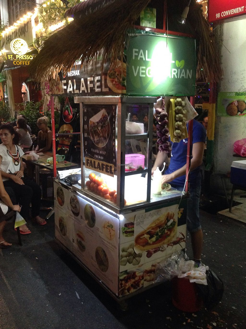 """Photo of Falafel Vegetarian Food Chulia St  by <a href=""""/members/profile/JeppoMAX"""">JeppoMAX</a> <br/>The cart <br/> March 21, 2018  - <a href='/contact/abuse/image/114989/373615'>Report</a>"""