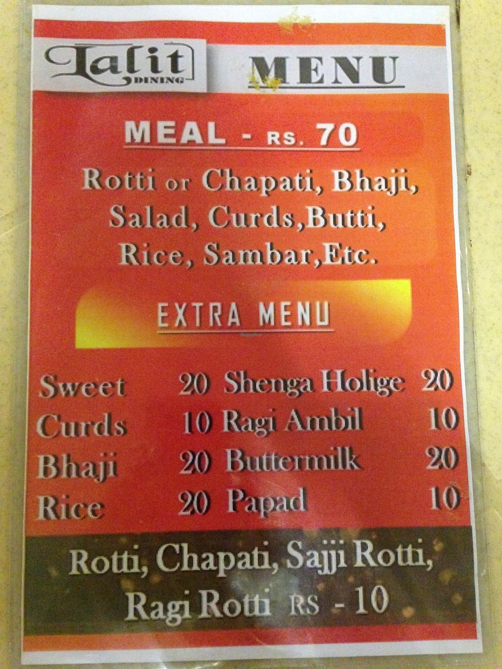 """Photo of Lalit Dining  by <a href=""""/members/profile/LobkeBrasseur"""">LobkeBrasseur</a> <br/>Menu <br/> March 20, 2018  - <a href='/contact/abuse/image/115006/373192'>Report</a>"""