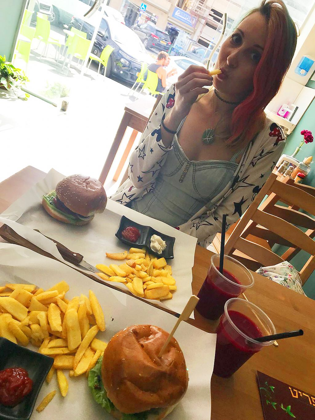 "Photo of HaKtzitza HaTiveat  by <a href=""/members/profile/KarinKoala"">KarinKoala</a> <br/>vegan burgers with France fries  <br/> April 1, 2018  - <a href='/contact/abuse/image/115010/379279'>Report</a>"