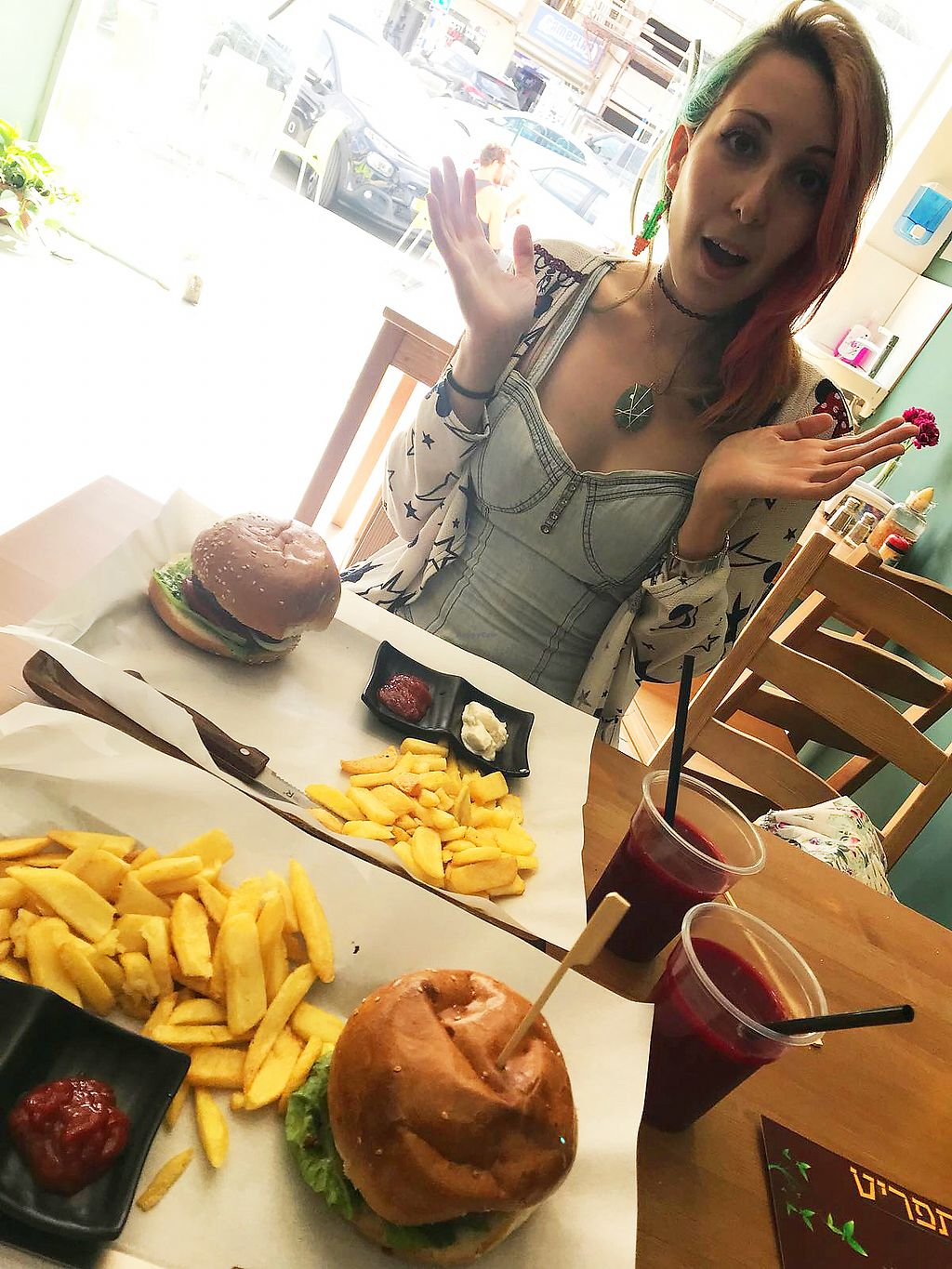 "Photo of HaKtzitza HaTiveat  by <a href=""/members/profile/KarinKoala"">KarinKoala</a> <br/>vegan burger~ In Afula <br/> April 1, 2018  - <a href='/contact/abuse/image/115010/379286'>Report</a>"