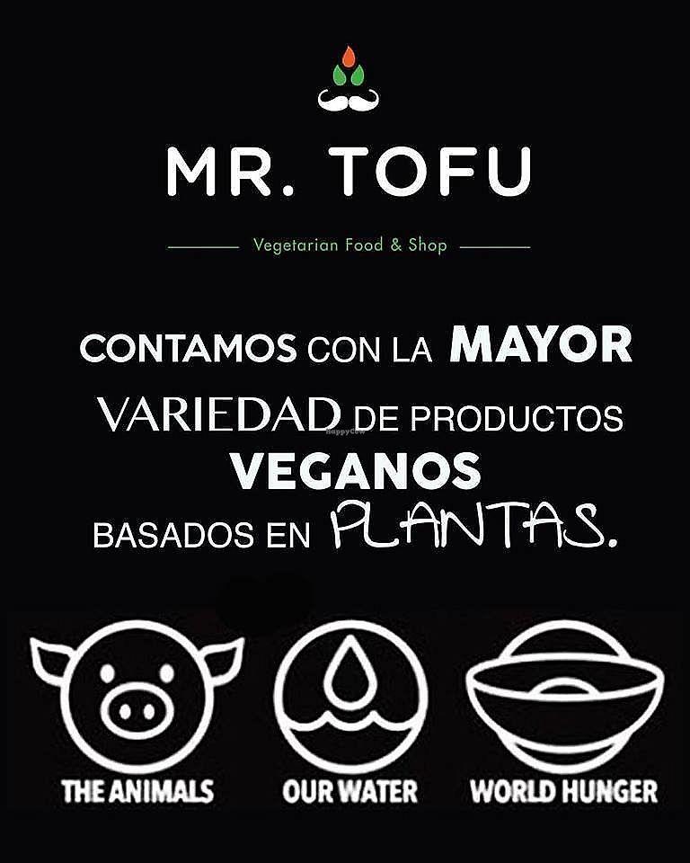 """Photo of Mr Tofu  by <a href=""""/members/profile/MrTofuPlaya"""">MrTofuPlaya</a> <br/>OFRECEMOS LA MAYOR VARIEDAD DE PRODUCTOS DE ORIGEN VEGETAL <br/> March 19, 2018  - <a href='/contact/abuse/image/115033/372973'>Report</a>"""
