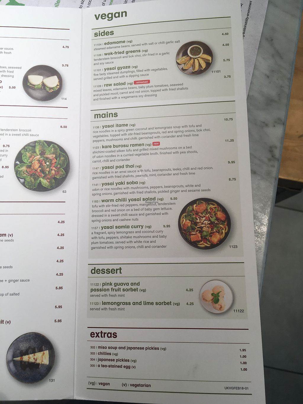 "Photo of Wagamama - Gatwick Airport  by <a href=""/members/profile/mettepalludan"">mettepalludan</a> <br/>Vegan dishes <br/> March 20, 2018  - <a href='/contact/abuse/image/115048/373381'>Report</a>"