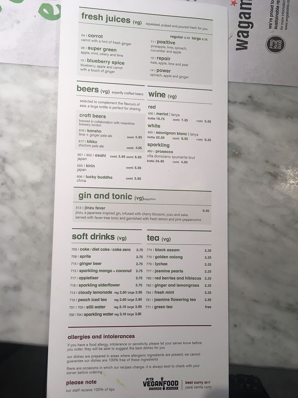 "Photo of Wagamama - Gatwick Airport  by <a href=""/members/profile/mettepalludan"">mettepalludan</a> <br/>Drinks menu (vegan+vegetarian) <br/> March 20, 2018  - <a href='/contact/abuse/image/115048/373382'>Report</a>"