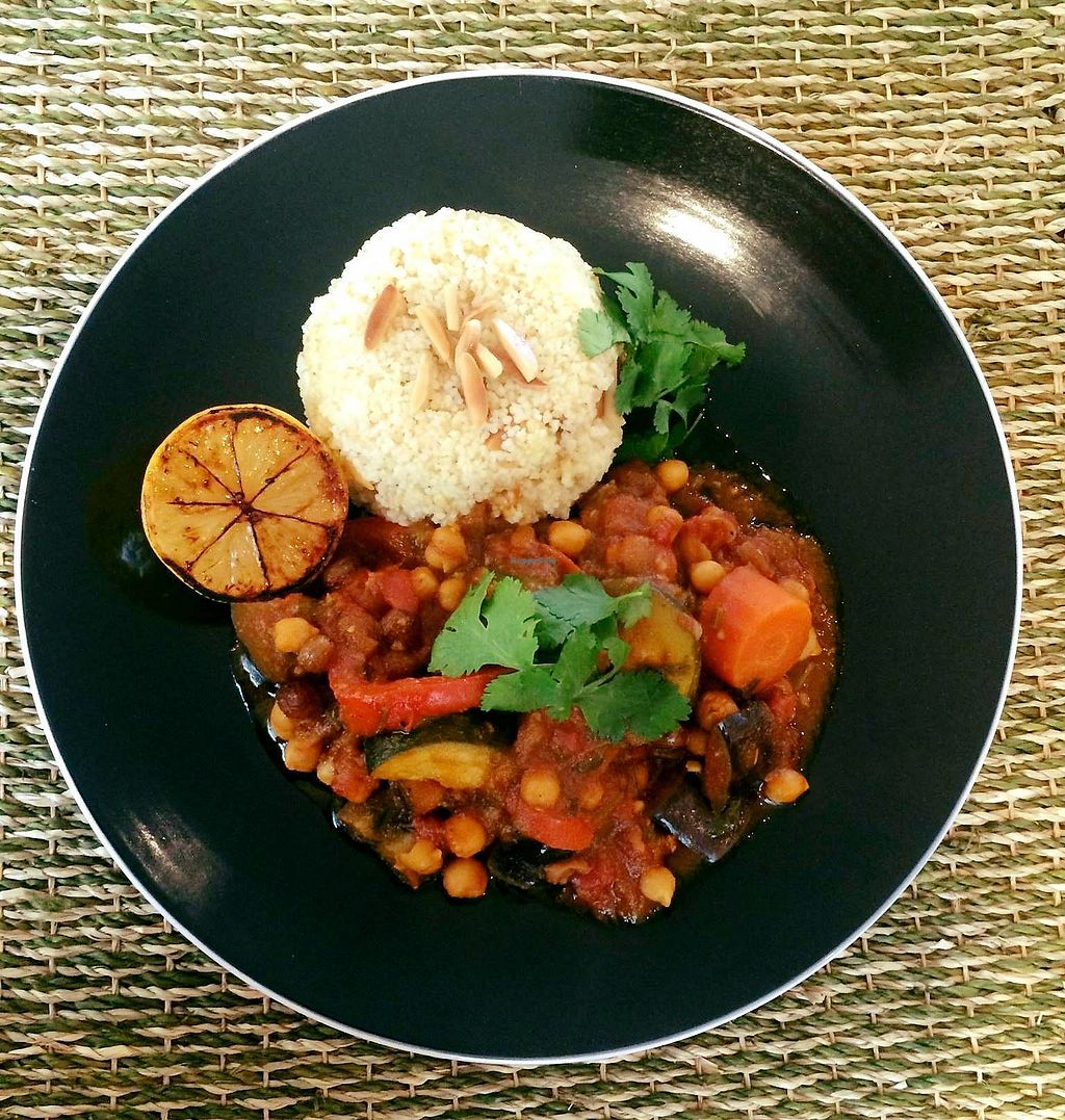 "Photo of Vegan Mama  by <a href=""/members/profile/mariamor"">mariamor</a> <br/>Aromatic Moroccan Tagine with Almond Couscous and Blackened Lemon <br/> April 16, 2018  - <a href='/contact/abuse/image/115067/386633'>Report</a>"