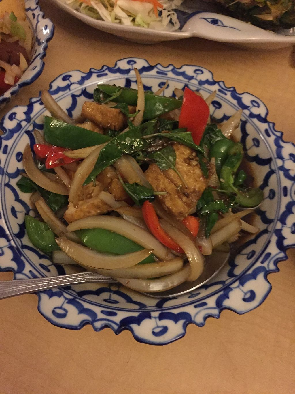 """Photo of Thai House  by <a href=""""/members/profile/Bariann"""">Bariann</a> <br/>Tofu with Mint Leaves <br/> March 21, 2018  - <a href='/contact/abuse/image/115141/373518'>Report</a>"""