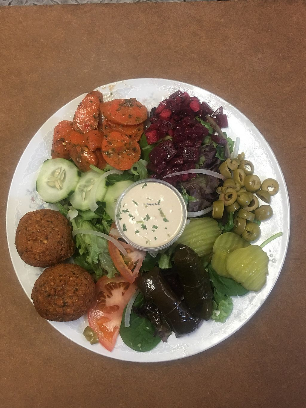 """Photo of Taste of Casablanca  by <a href=""""/members/profile/PlantBasedRN"""">PlantBasedRN</a> <br/>Falafel Salad <br/> April 3, 2018  - <a href='/contact/abuse/image/115146/380322'>Report</a>"""