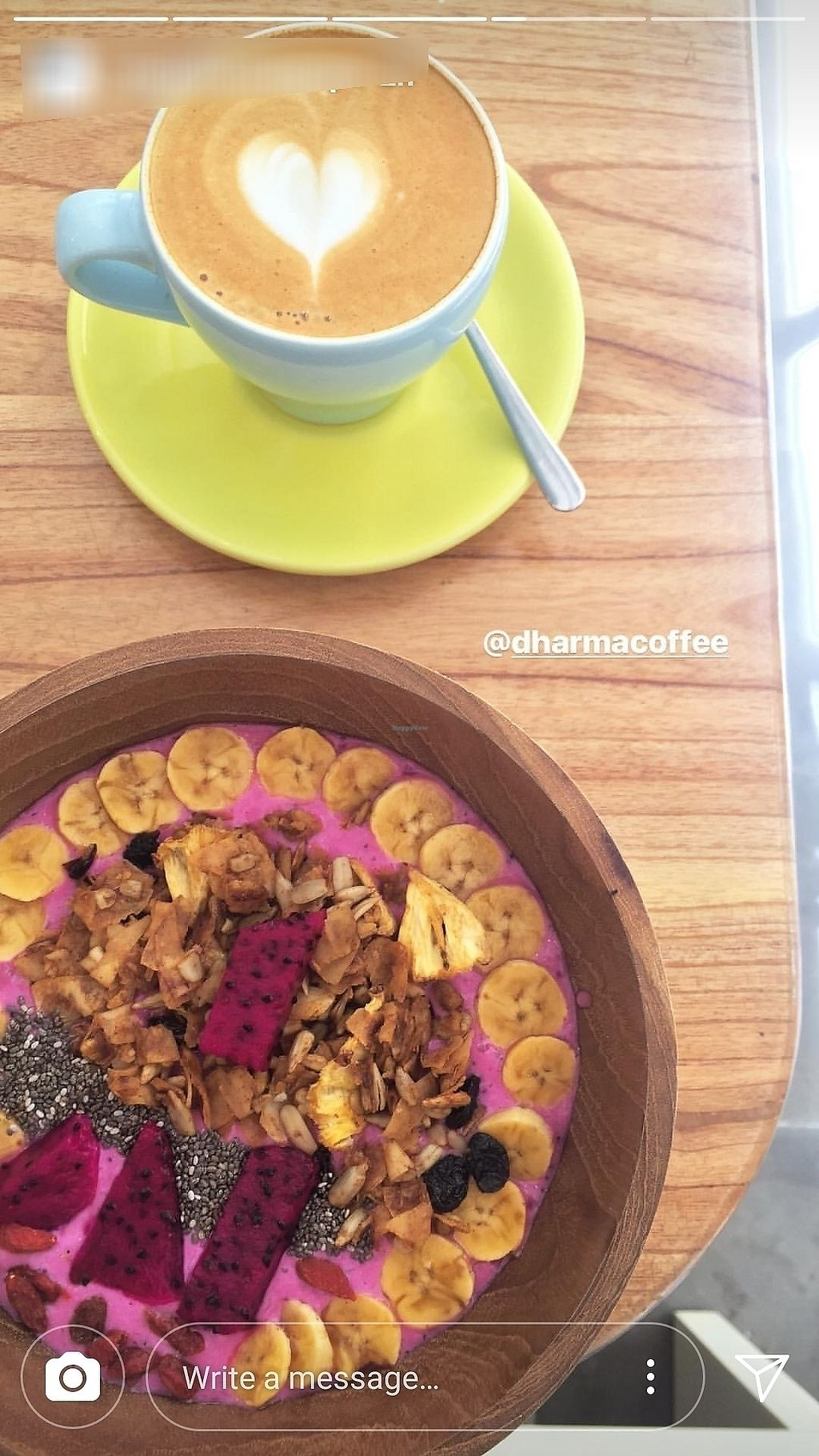 """Photo of Dharma Coffee & Juice  by <a href=""""/members/profile/TorkisNasoetion"""">TorkisNasoetion</a> <br/>Good Coffee and Delicious Smoothie Bowl <br/> March 31, 2018  - <a href='/contact/abuse/image/115176/378593'>Report</a>"""