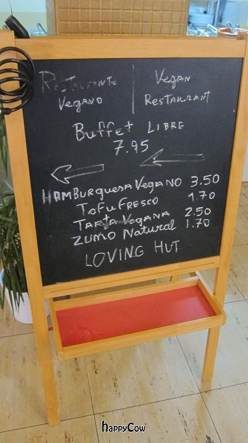 "Photo of Loving Hut  by <a href=""/members/profile/Aurelia"">Aurelia</a> <br/>The sandwich board listing daily specials <br/> October 6, 2012  - <a href='/contact/abuse/image/1151/38764'>Report</a>"