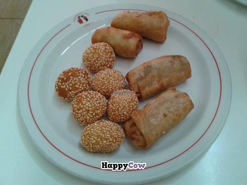 "Photo of Loving Hut  by <a href=""/members/profile/JonJon"">JonJon</a> <br/>Spring rolls and dumplings with sesame <br/> September 28, 2013  - <a href='/contact/abuse/image/1151/55890'>Report</a>"