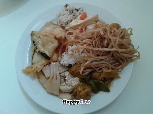 "Photo of Loving Hut  by <a href=""/members/profile/JonJon"">JonJon</a> <br/>Fried noodles, rice, tofu, fried vegetables, eggplant fritters <br/> September 28, 2013  - <a href='/contact/abuse/image/1151/55891'>Report</a>"