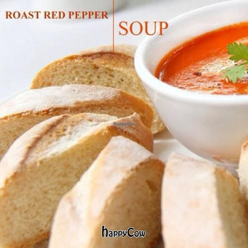 """Photo of CLOSED: The Terrace on 95 - K'NYAY  by <a href=""""/members/profile/chillin"""">chillin</a> <br/>roast red pepper soup <br/> June 14, 2013  - <a href='/contact/abuse/image/11520/49584'>Report</a>"""