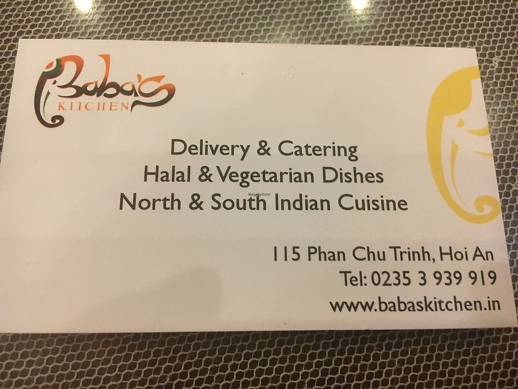 """Photo of Baba's Kitchen  by <a href=""""/members/profile/felipereis"""">felipereis</a> <br/>Restaurant card <br/> March 21, 2018  - <a href='/contact/abuse/image/115211/374065'>Report</a>"""