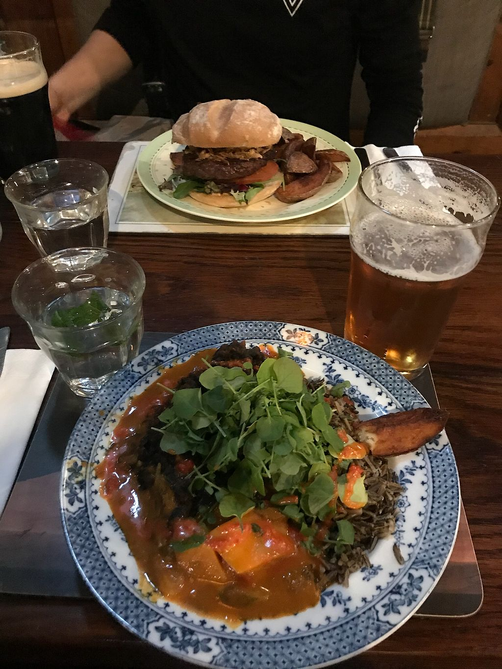 """Photo of Hillhead Bookclub  by <a href=""""/members/profile/KaitlinM"""">KaitlinM</a> <br/>Jamaican stew for me and beef burger for my partner  <br/> April 16, 2018  - <a href='/contact/abuse/image/115254/386888'>Report</a>"""