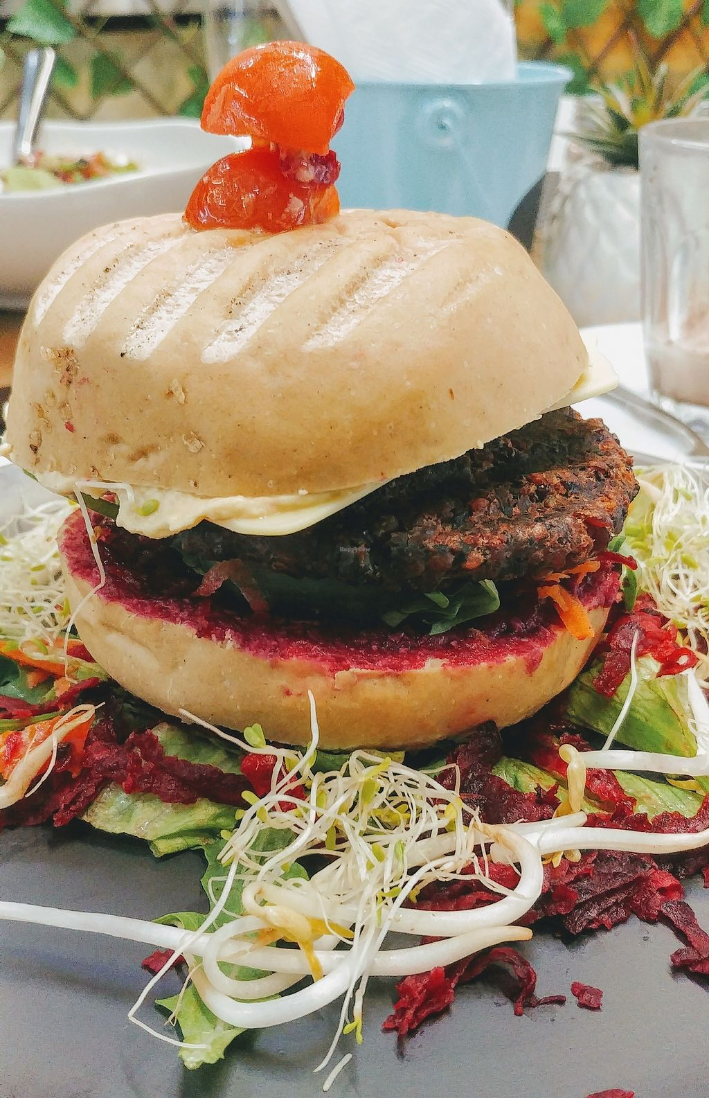 """Photo of Back2Nature Cafe  by <a href=""""/members/profile/karlaess"""">karlaess</a> <br/>Beetroot burger <br/> March 24, 2018  - <a href='/contact/abuse/image/115263/375194'>Report</a>"""