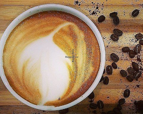 """Photo of Back2Nature Cafe  by <a href=""""/members/profile/VipinKumar"""">VipinKumar</a> <br/>Vegan almond latte <br/> April 10, 2018  - <a href='/contact/abuse/image/115263/387831'>Report</a>"""