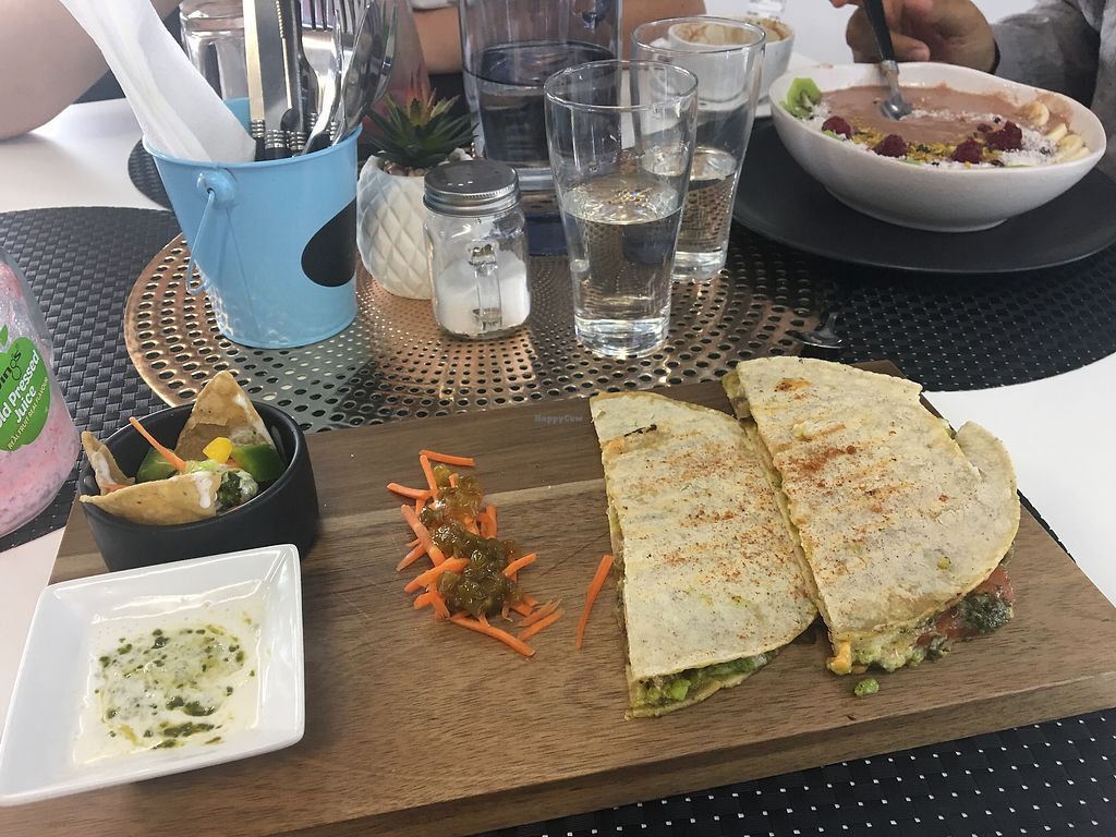 """Photo of Back2Nature Cafe  by <a href=""""/members/profile/EmmaZ"""">EmmaZ</a> <br/>Quesadillas ?? <br/> April 22, 2018  - <a href='/contact/abuse/image/115263/389232'>Report</a>"""