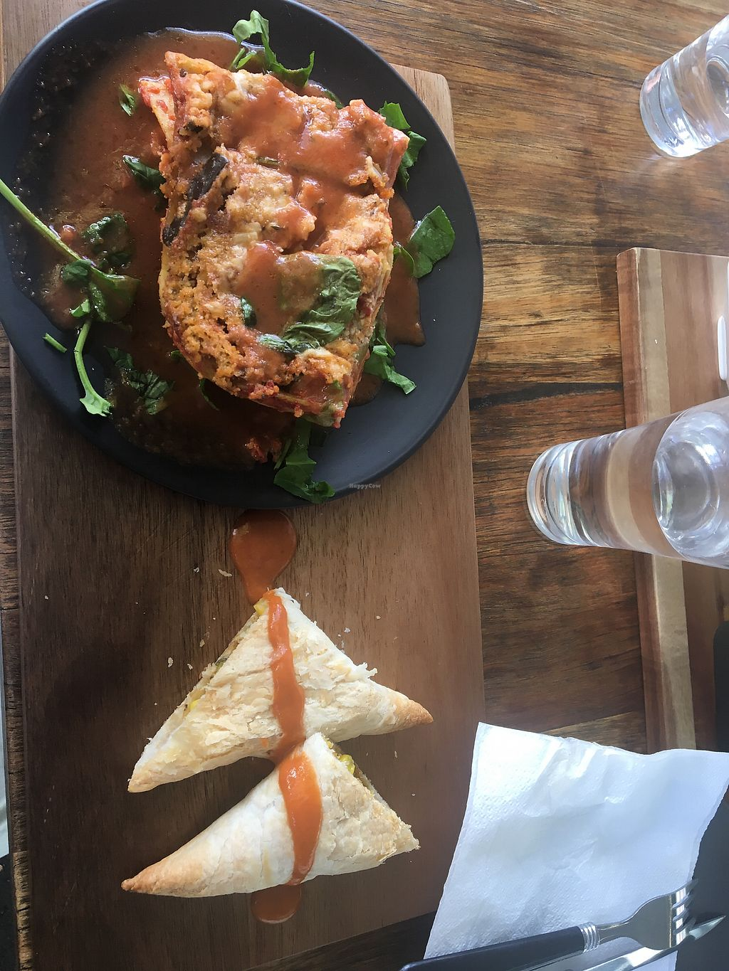 """Photo of Back2Nature Cafe  by <a href=""""/members/profile/EmmaZ"""">EmmaZ</a> <br/>Lasagne and veggie puffs  <br/> April 22, 2018  - <a href='/contact/abuse/image/115263/389233'>Report</a>"""