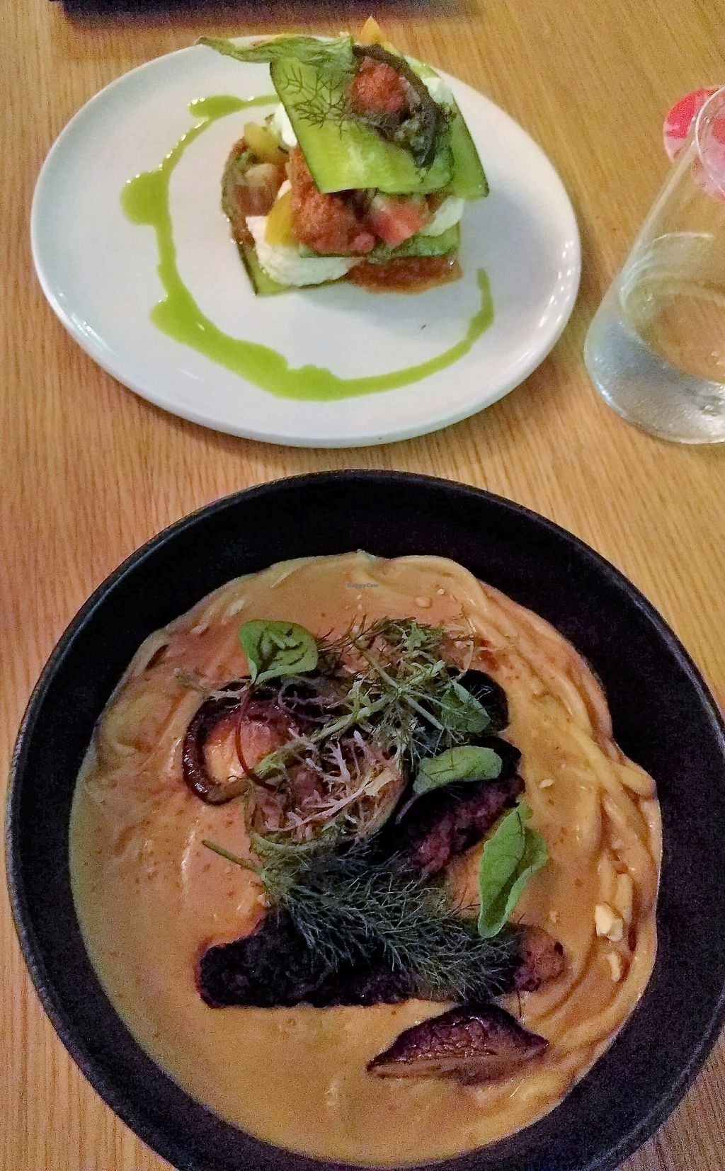 """Photo of Alibi  by <a href=""""/members/profile/Cycliz"""">Cycliz</a> <br/>Zucchini lasagna with dried tomato sauce, heirloom tomatoes and macadamia ricotta Spicy udon with chickpea tempeh and shiitake mushrooms <br/> April 8, 2018  - <a href='/contact/abuse/image/115266/382231'>Report</a>"""