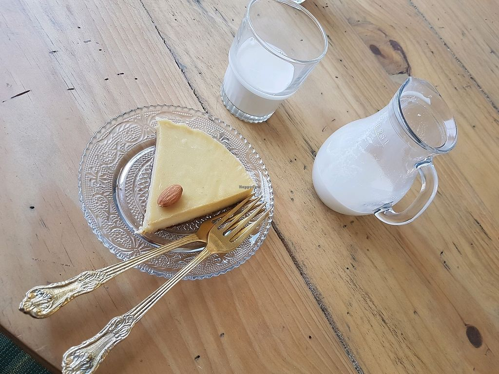 """Photo of Ayurvedico Cafe  by <a href=""""/members/profile/CrisArtes"""">CrisArtes</a> <br/>raw cashew cake with almond milk <br/> March 23, 2018  - <a href='/contact/abuse/image/115312/374683'>Report</a>"""