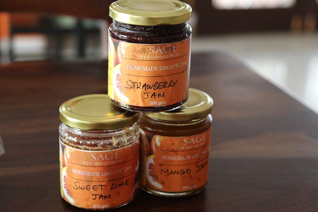 """Photo of Sage Farm Cafe  by <a href=""""/members/profile/RobiSaran"""">RobiSaran</a> <br/>packaged home-made jams and pickles and sauerkraut <br/> March 25, 2018  - <a href='/contact/abuse/image/115313/375657'>Report</a>"""