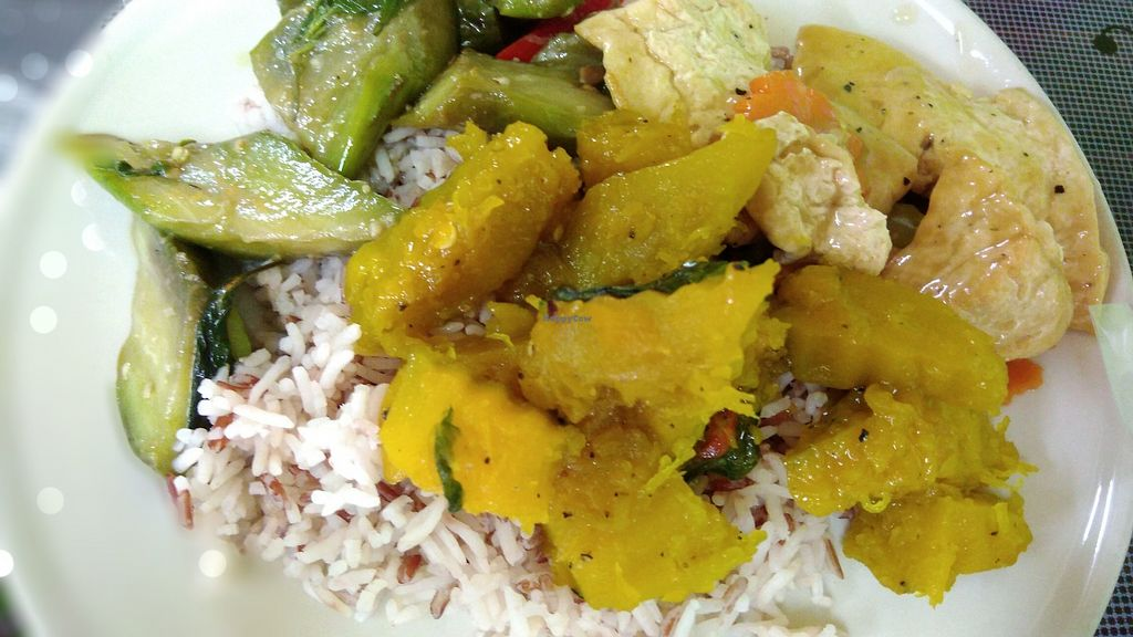 """Photo of Zhen Jie  by <a href=""""/members/profile/ChoyYuen"""">ChoyYuen</a> <br/>Brown rice with pumpkin, tofu and eggplant <br/> March 23, 2018  - <a href='/contact/abuse/image/115327/374777'>Report</a>"""