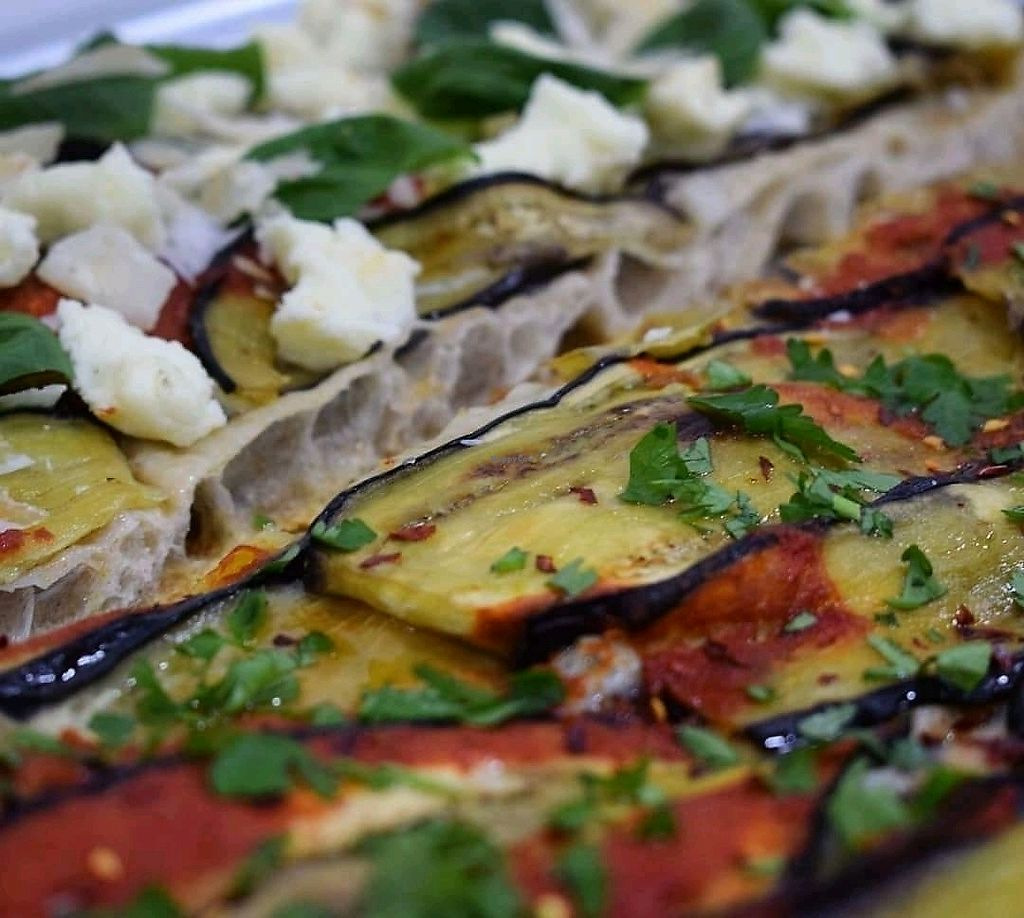 """Photo of Baked Pizza Al Taglio   by <a href=""""/members/profile/DafniBechtsi"""">DafniBechtsi</a> <br/>aubergine, auto, parsley with or without chilli flakes and cheese <br/> April 2, 2018  - <a href='/contact/abuse/image/115370/379925'>Report</a>"""