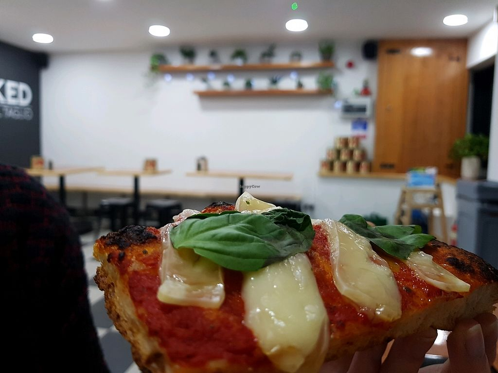 """Photo of Baked Pizza Al Taglio   by <a href=""""/members/profile/DafniBechtsi"""">DafniBechtsi</a> <br/>vegan margherita!!!  <br/> April 2, 2018  - <a href='/contact/abuse/image/115370/379928'>Report</a>"""
