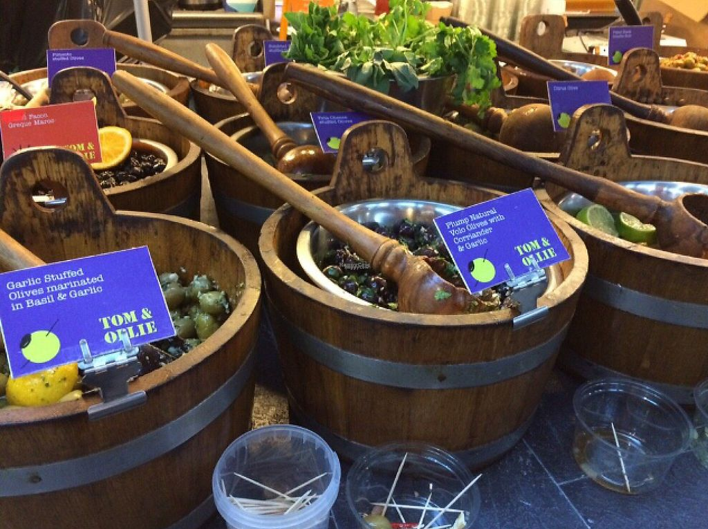 """Photo of St George's Market  by <a href=""""/members/profile/CiaraSlevin"""">CiaraSlevin</a> <br/>olive stall @ St George's Market  <br/> August 21, 2016  - <a href='/contact/abuse/image/11545/239527'>Report</a>"""