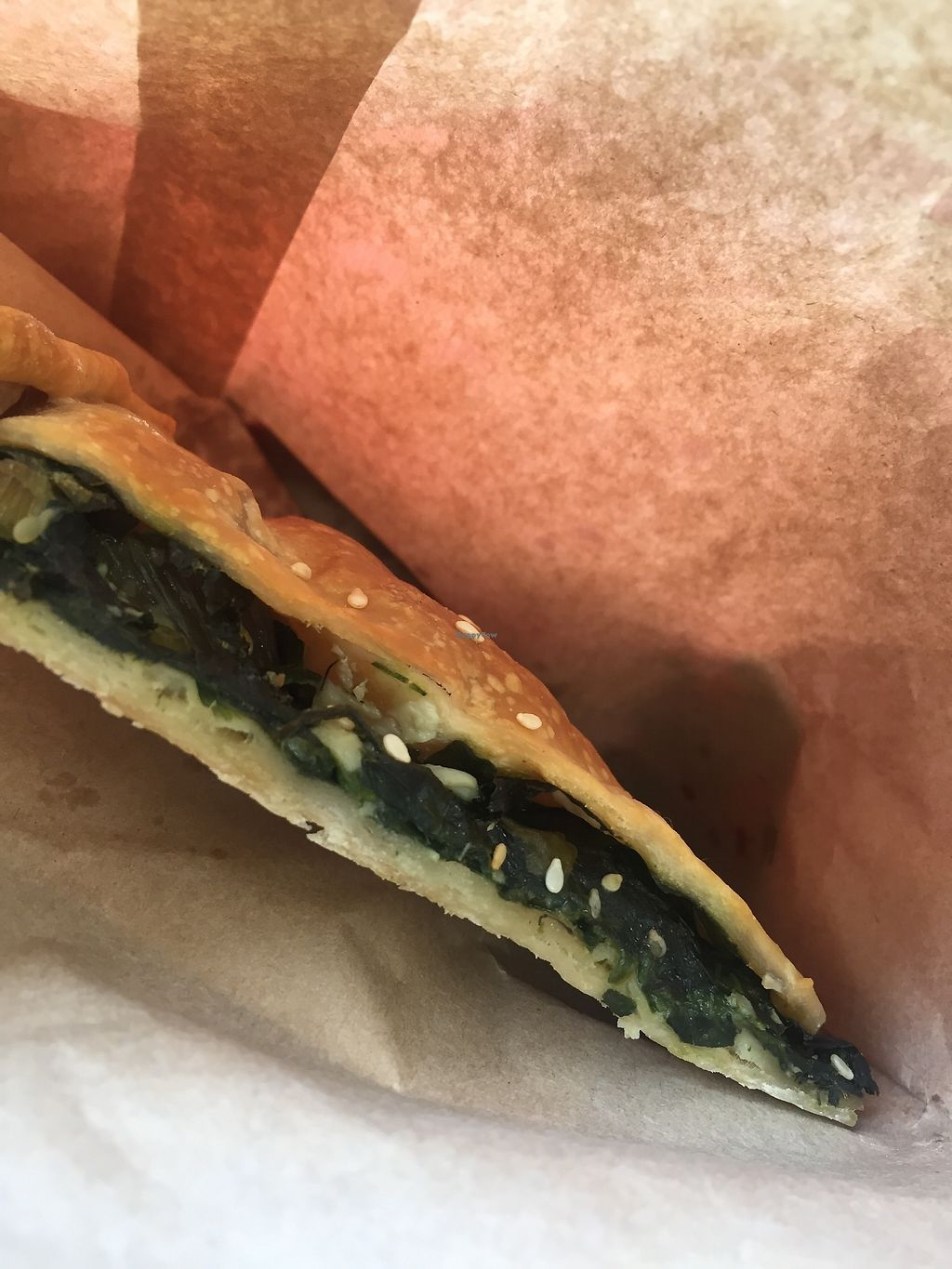 """Photo of Greek Vegan Bakery  by <a href=""""/members/profile/Kittybiscuit"""">Kittybiscuit</a> <br/>Spanakopita  <br/> March 24, 2018  - <a href='/contact/abuse/image/115482/375097'>Report</a>"""