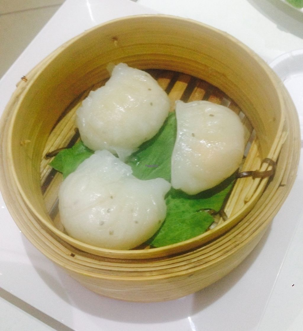 """Photo of Loving Hut  by <a href=""""/members/profile/NirvanaRoseWilliams"""">NirvanaRoseWilliams</a> <br/>Prawn dumplings  <br/> April 14, 2017  - <a href='/contact/abuse/image/11553/247794'>Report</a>"""