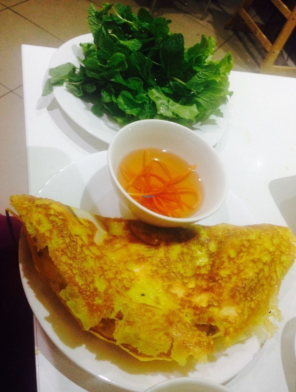 """Photo of Loving Hut  by <a href=""""/members/profile/NirvanaRoseWilliams"""">NirvanaRoseWilliams</a> <br/>The Vietnamese pancake  <br/> April 14, 2017  - <a href='/contact/abuse/image/11553/247796'>Report</a>"""
