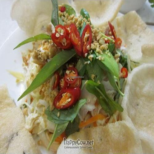 """Photo of Loving Hut  by <a href=""""/members/profile/MaitreyaBelmore"""">MaitreyaBelmore</a> <br/>Soy Chicken & Jackfruit Salad $10 (Small) $15 (large) <br/> October 15, 2010  - <a href='/contact/abuse/image/11553/6102'>Report</a>"""