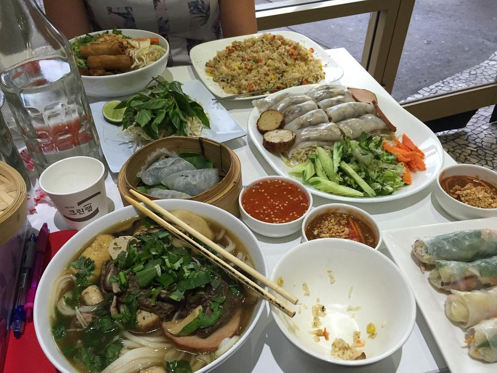 """Photo of Loving Hut  by <a href=""""/members/profile/MOJO%21"""">MOJO!</a> <br/>The spread at Loving Hut Cabramatta <br/> January 24, 2015  - <a href='/contact/abuse/image/11553/91342'>Report</a>"""