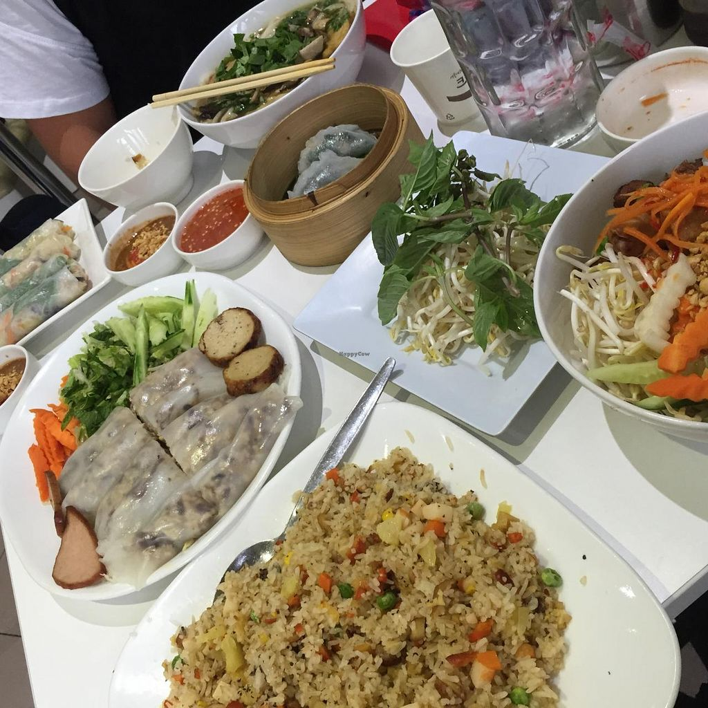 """Photo of Loving Hut  by <a href=""""/members/profile/MOJO%21"""">MOJO!</a> <br/>The spread at Loving Hut Cabramatta <br/> January 25, 2015  - <a href='/contact/abuse/image/11553/91346'>Report</a>"""