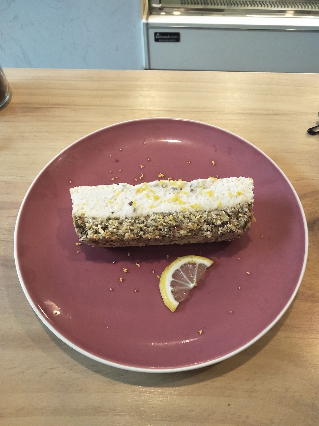 """Photo of Graze  by <a href=""""/members/profile/MichaelRobinson"""">MichaelRobinson</a> <br/>Vegan lemon cheesecake <br/> March 25, 2018  - <a href='/contact/abuse/image/115556/375773'>Report</a>"""