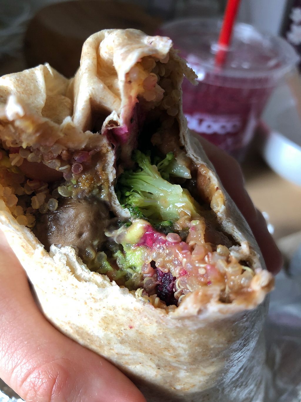 """Photo of Boloco  by <a href=""""/members/profile/Tamy"""">Tamy</a> <br/>Vegan burrito <br/> March 25, 2018  - <a href='/contact/abuse/image/115566/375610'>Report</a>"""