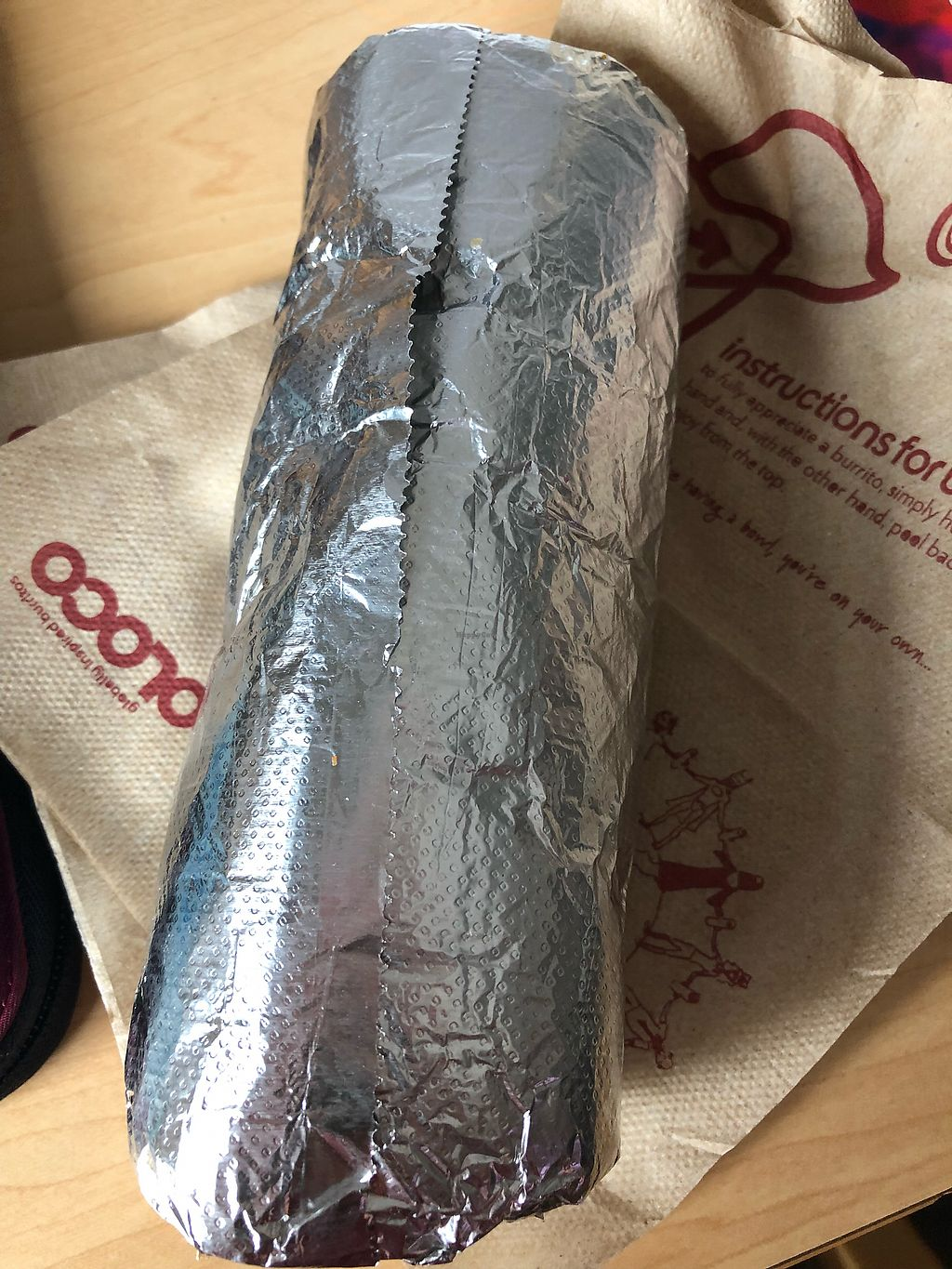 """Photo of Boloco  by <a href=""""/members/profile/Tamy"""">Tamy</a> <br/>Regular sized burrito  <br/> March 25, 2018  - <a href='/contact/abuse/image/115566/375613'>Report</a>"""