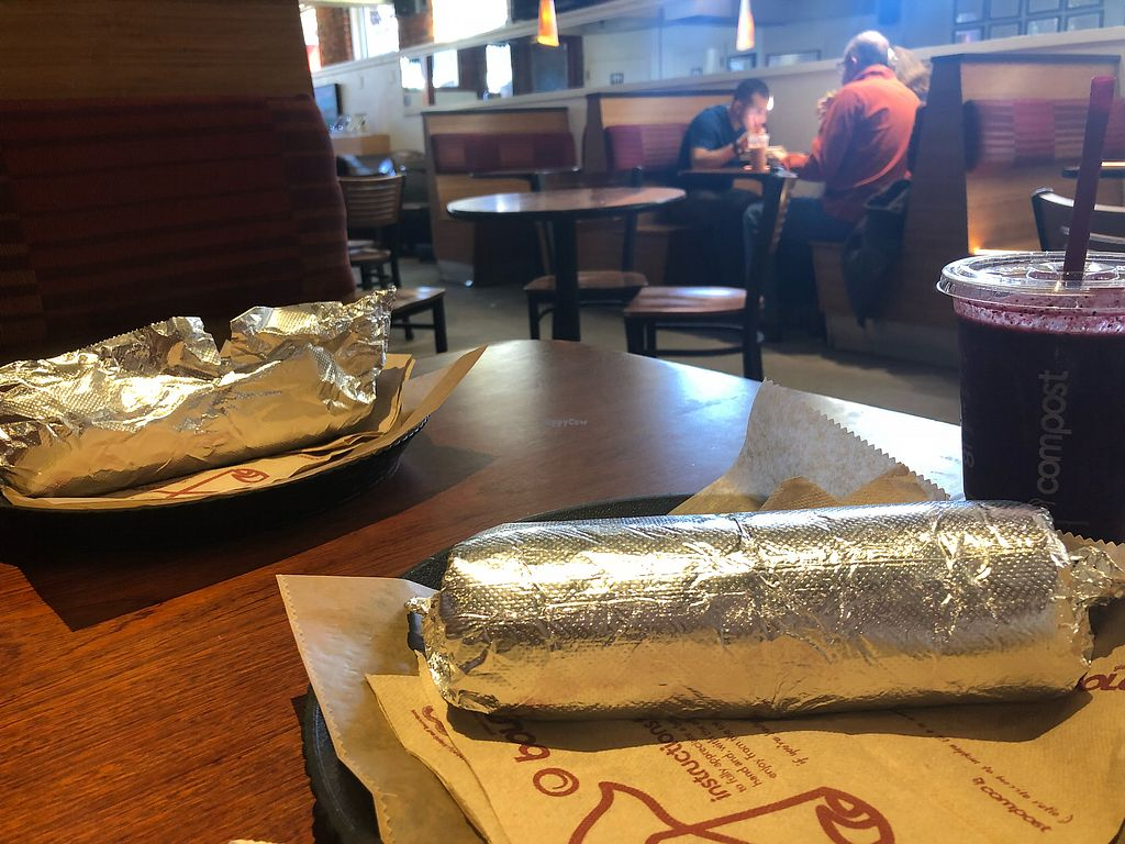 """Photo of Boloco  by <a href=""""/members/profile/Tamy"""">Tamy</a> <br/>Burritos and heart beet at lunchtime  <br/> March 31, 2018  - <a href='/contact/abuse/image/115566/379100'>Report</a>"""