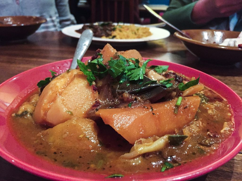 """Photo of Moroccan Soup Bar  by <a href=""""/members/profile/karlaess"""">karlaess</a> <br/>Vegan banquet main <br/> November 22, 2015  - <a href='/contact/abuse/image/11556/125885'>Report</a>"""