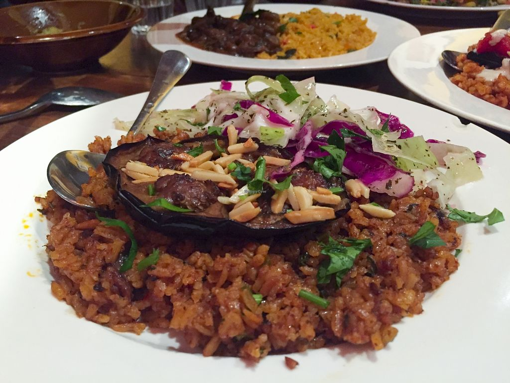 """Photo of Moroccan Soup Bar  by <a href=""""/members/profile/karlaess"""">karlaess</a> <br/>Vegan banquet main <br/> November 22, 2015  - <a href='/contact/abuse/image/11556/125888'>Report</a>"""