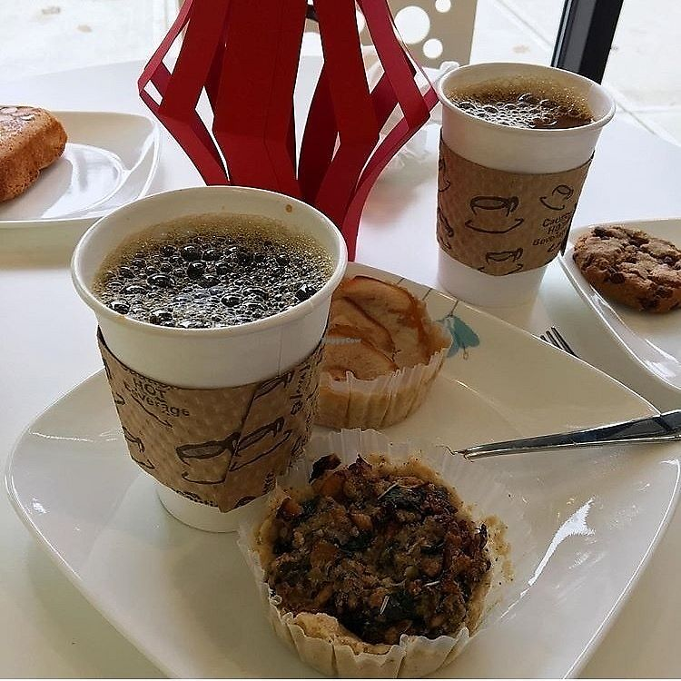 """Photo of Carina's Bakery  by <a href=""""/members/profile/vegfag"""">vegfag</a> <br/>Apple Tart, Bran Muffin & drip coffee! <br/> April 13, 2018  - <a href='/contact/abuse/image/115575/385218'>Report</a>"""