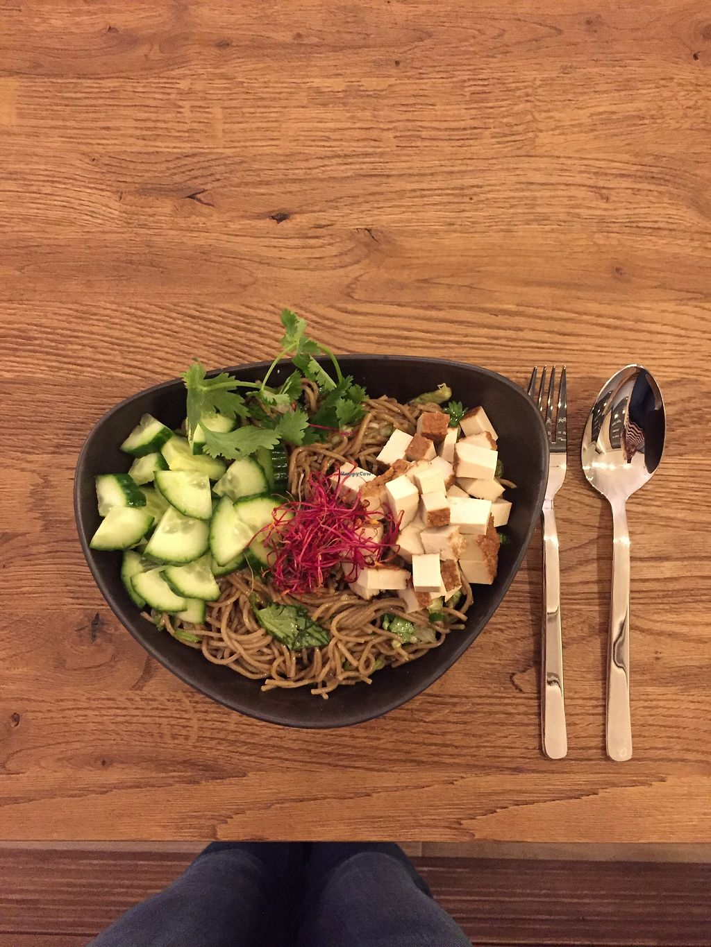 """Photo of Nährstoff-Reich  by <a href=""""/members/profile/velini"""">velini</a> <br/>Japanese Bowl with soba-noodles, smoked tofu, cucumber and a super tasty asian dressing <br/> March 31, 2018  - <a href='/contact/abuse/image/115738/378875'>Report</a>"""
