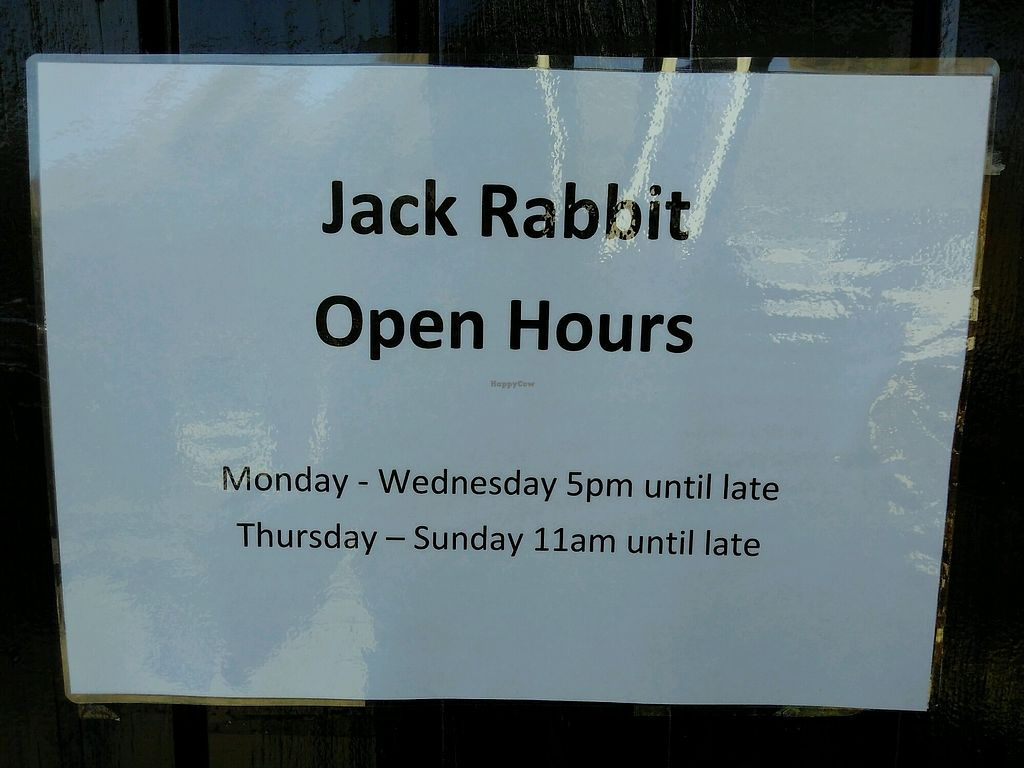 "Photo of Jack Rabbit Restaurant & Bar  by <a href=""/members/profile/kolaj"">kolaj</a> <br/>Open hours <br/> March 26, 2018  - <a href='/contact/abuse/image/115754/376214'>Report</a>"