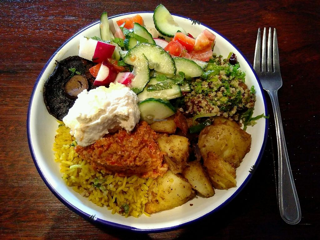 """Photo of Big Fig  by <a href=""""/members/profile/kolaj"""">kolaj</a> <br/>Vegan mixed veg & salad plate for $16 <br/> March 26, 2018  - <a href='/contact/abuse/image/115758/376224'>Report</a>"""
