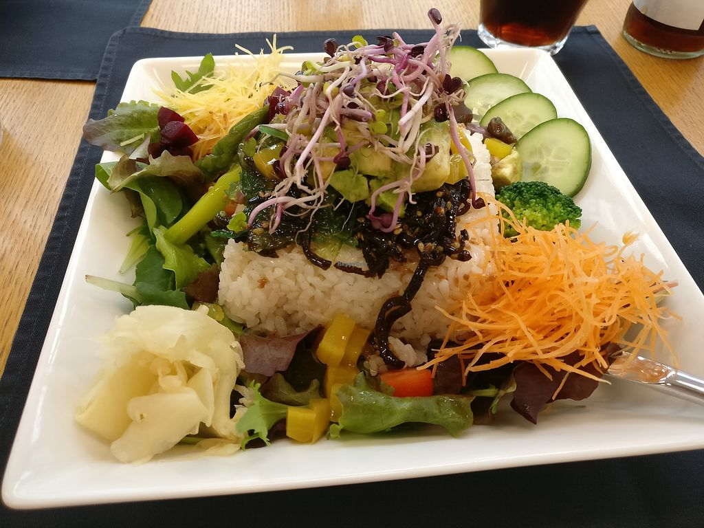 """Photo of Cafe im Kunstmuseum  by <a href=""""/members/profile/Meaks"""">Meaks</a> <br/>Vegan rice salad <br/> March 28, 2018  - <a href='/contact/abuse/image/115790/377507'>Report</a>"""