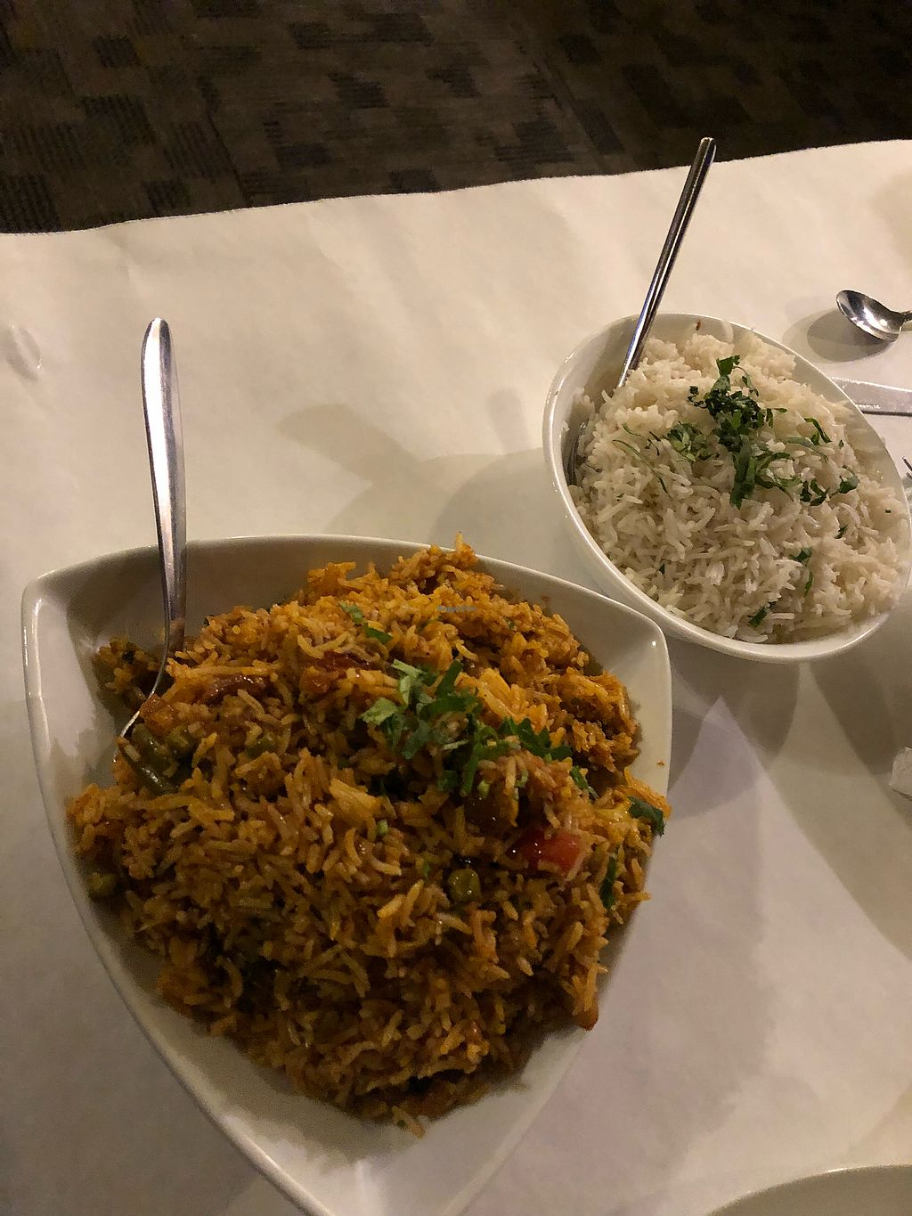 "Photo of Shahi Palace  by <a href=""/members/profile/Jadediana"">Jadediana</a> <br/>Vegetable Biryani and plate of white rice  <br/> April 5, 2018  - <a href='/contact/abuse/image/115816/380883'>Report</a>"