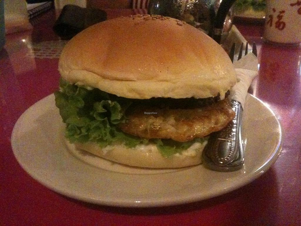 """Photo of Monorom Garden  by <a href=""""/members/profile/heloisepe"""">heloisepe</a> <br/>My delicious western burger <br/> July 27, 2015  - <a href='/contact/abuse/image/11581/111165'>Report</a>"""