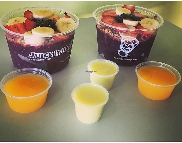 """Photo of Juice It Up  by <a href=""""/members/profile/StephanieWilson"""">StephanieWilson</a> <br/>Açaí bowls, ginger shots and vit C shots <br/> March 27, 2018  - <a href='/contact/abuse/image/115893/376959'>Report</a>"""