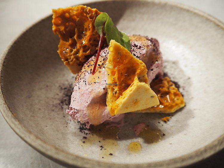 """Photo of Yerba  by <a href=""""/members/profile/WalterMarskamp"""">WalterMarskamp</a> <br/>Pickled red cabbage sorbet, agave rosemary comb and cacao crumble  <br/> April 4, 2018  - <a href='/contact/abuse/image/115944/380531'>Report</a>"""
