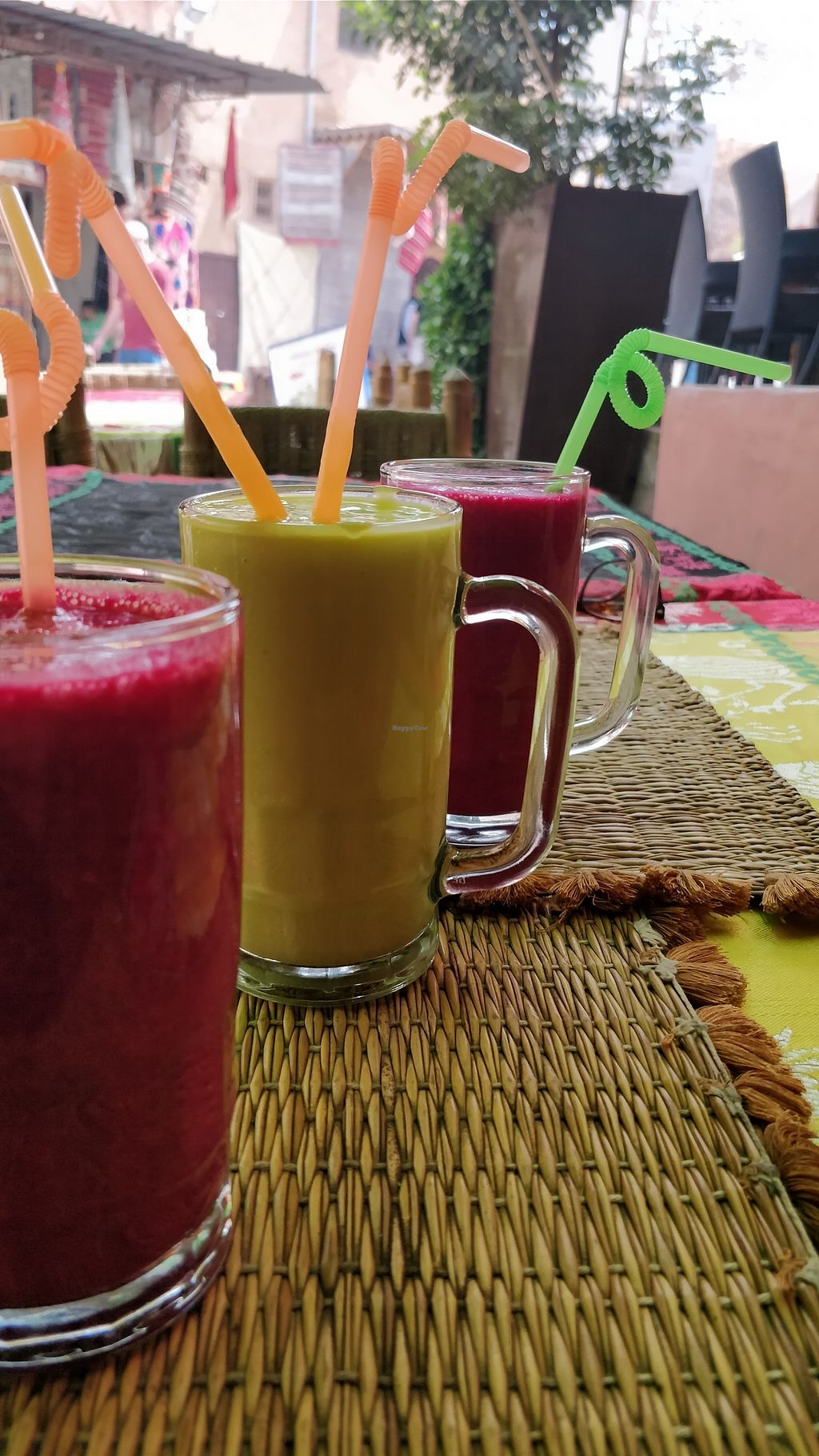"Photo of Green Vegetarian  by <a href=""/members/profile/IevaR"">IevaR</a> <br/>Beetroot and ginger juice, and avocado juice <br/> March 28, 2018  - <a href='/contact/abuse/image/115951/377480'>Report</a>"